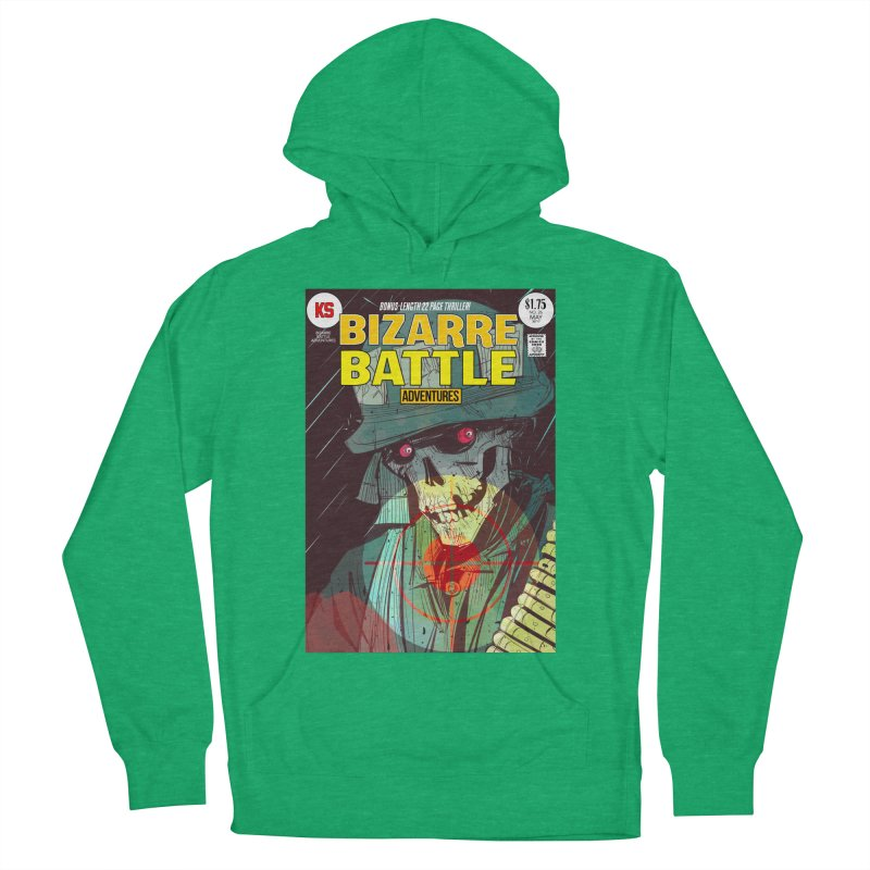 Bizarre Battle Adventures Cover art Women's French Terry Pullover Hoody by Krishna Designs
