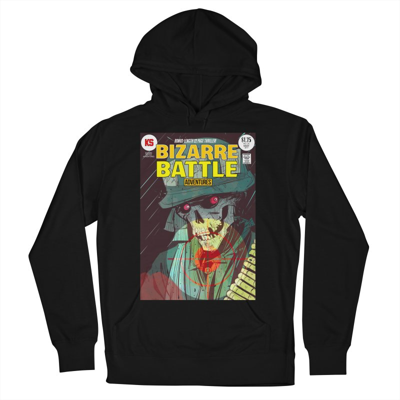 Bizarre Battle Adventures Cover art Men's French Terry Pullover Hoody by Krishna Designs