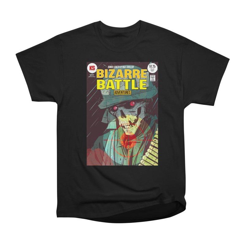 Bizarre Battle Adventures Cover art Women's Heavyweight Unisex T-Shirt by Krishna Designs