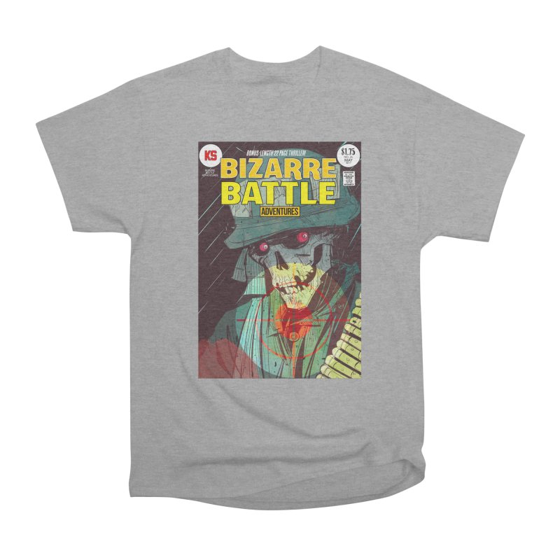 Bizarre Battle Adventures Cover art Women's Heavyweight Unisex T-Shirt by Krishna Designs