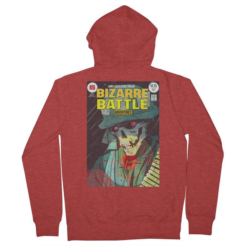 Bizarre Battle Adventures Cover art Women's French Terry Zip-Up Hoody by Krishna Designs