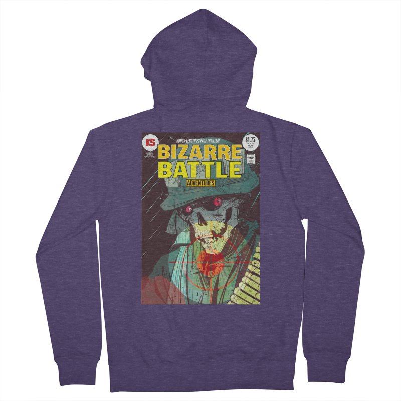 Bizarre Battle Adventures Cover art Men's French Terry Zip-Up Hoody by Krishna Designs