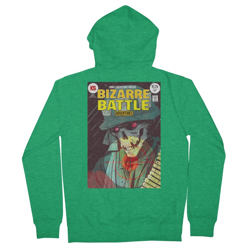 Bizarre Battle Adventures Cover art Men's Zip-Up Hoody by Krishna Designs