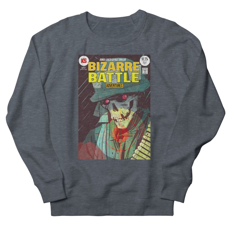 Bizarre Battle Adventures Cover art Men's French Terry Sweatshirt by Krishna Designs