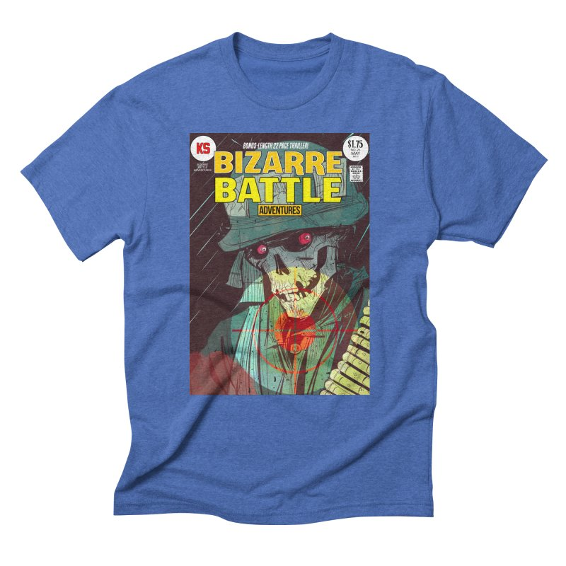 Bizarre Battle Adventures Cover art Men's Triblend T-Shirt by Krishna Designs