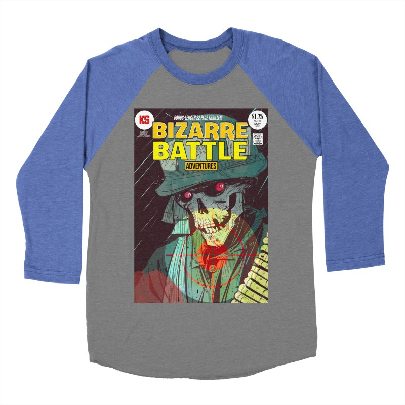 Bizarre Battle Adventures Cover art Women's Baseball Triblend Longsleeve T-Shirt by Krishna Designs