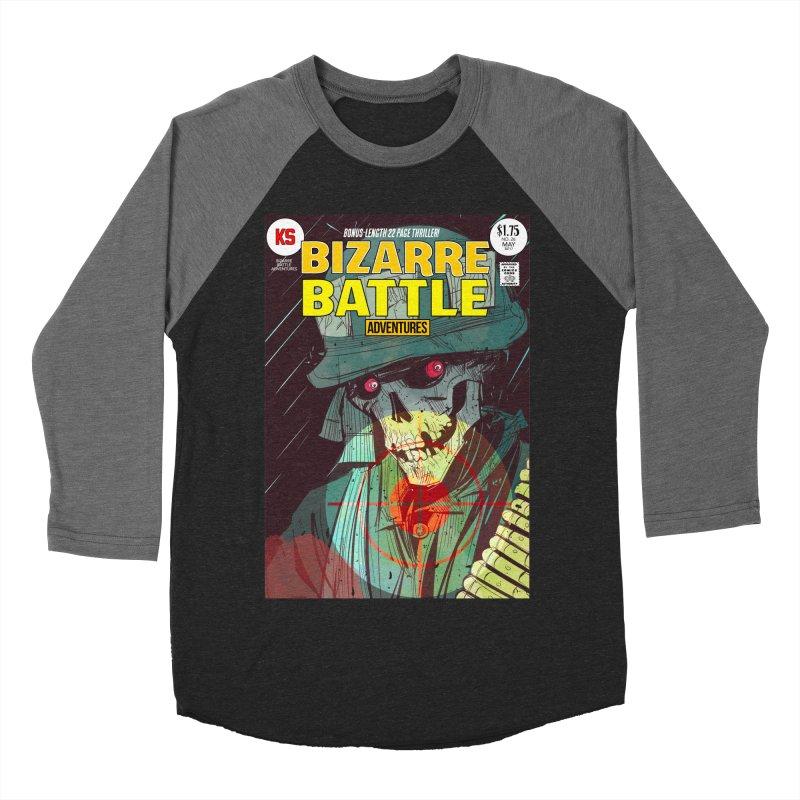 Bizarre Battle Adventures Cover art Women's Baseball Triblend Longsleeve T-Shirt by Krishna Designs
