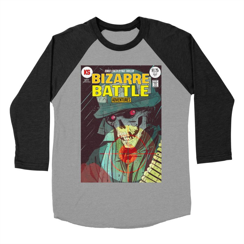 Bizarre Battle Adventures Cover art Men's Baseball Triblend Longsleeve T-Shirt by Krishna Designs