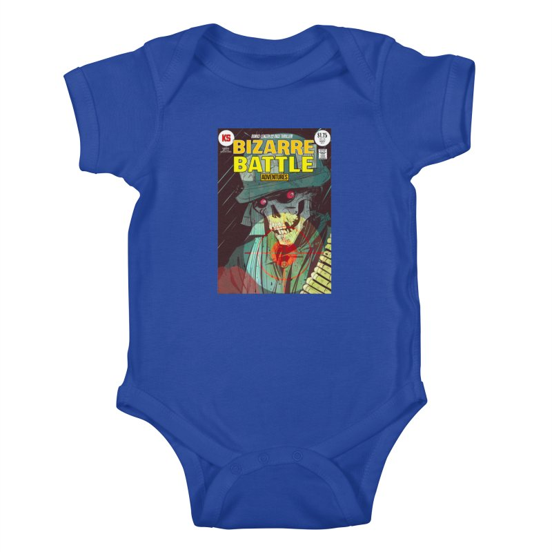 Bizarre Battle Adventures Cover art Kids Baby Bodysuit by Krishna Designs