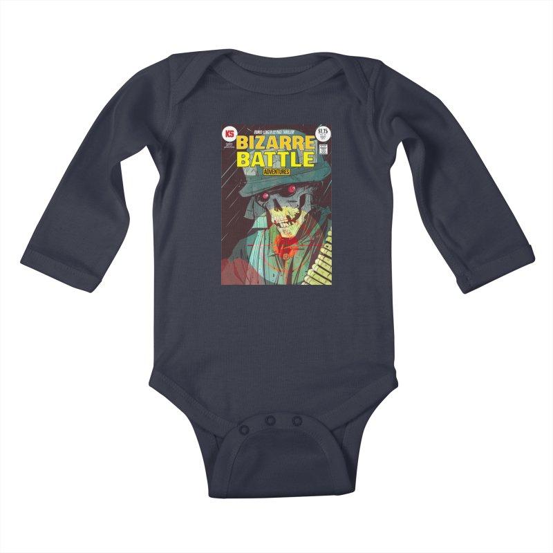 Bizarre Battle Adventures Cover art Kids Baby Longsleeve Bodysuit by Krishna Designs