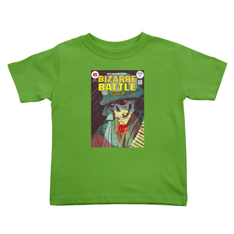 Bizarre Battle Adventures Cover art Kids Toddler T-Shirt by Krishna Designs