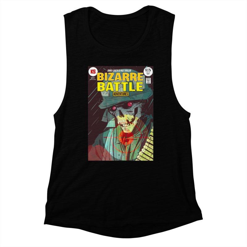 Bizarre Battle Adventures Cover art Women's Muscle Tank by Krishna Designs