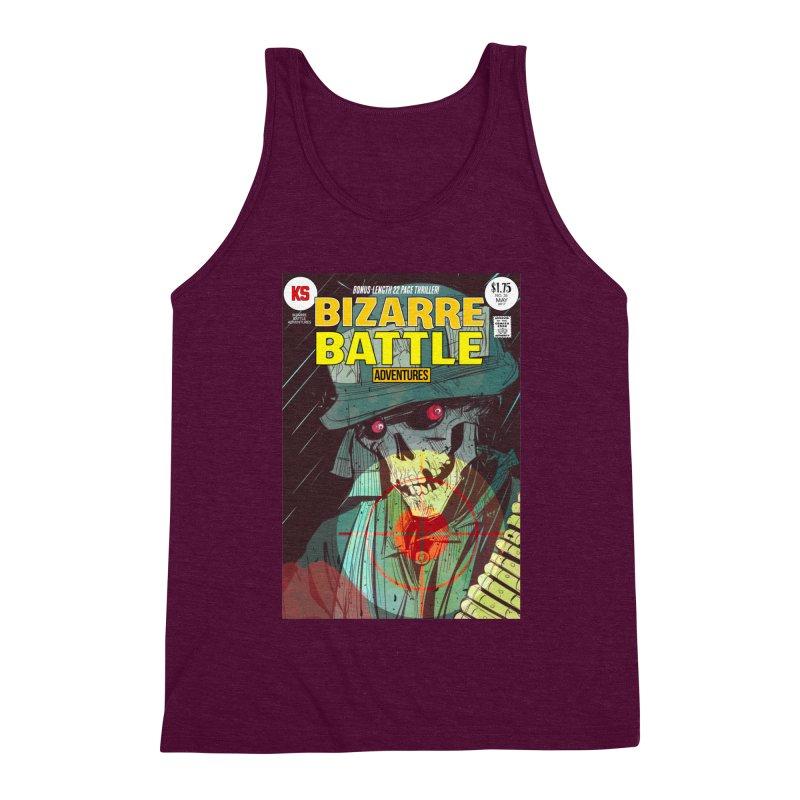 Bizarre Battle Adventures Cover art Men's Triblend Tank by Krishna Designs