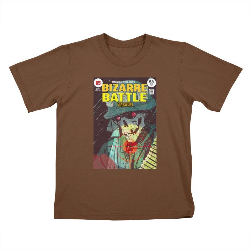 Bizarre Battle Adventures Cover art Kids T-Shirt by Krishna Designs