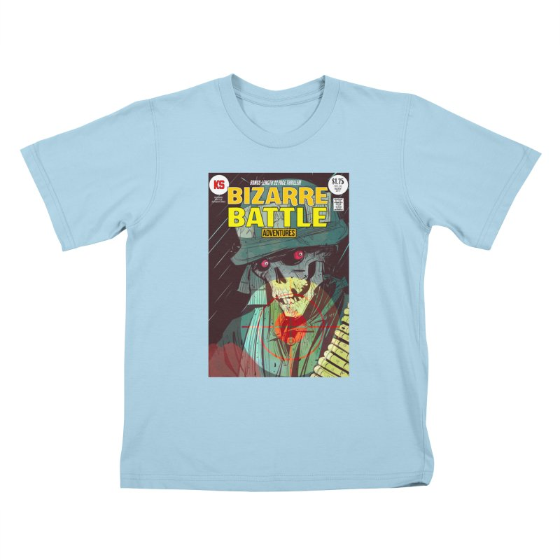 Bizarre Battle Adventures Cover art Kids T-Shirt by Krishna Designs