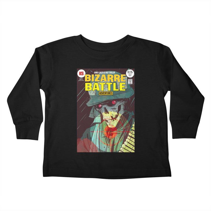 Bizarre Battle Adventures Cover art Kids Toddler Longsleeve T-Shirt by Krishna Designs