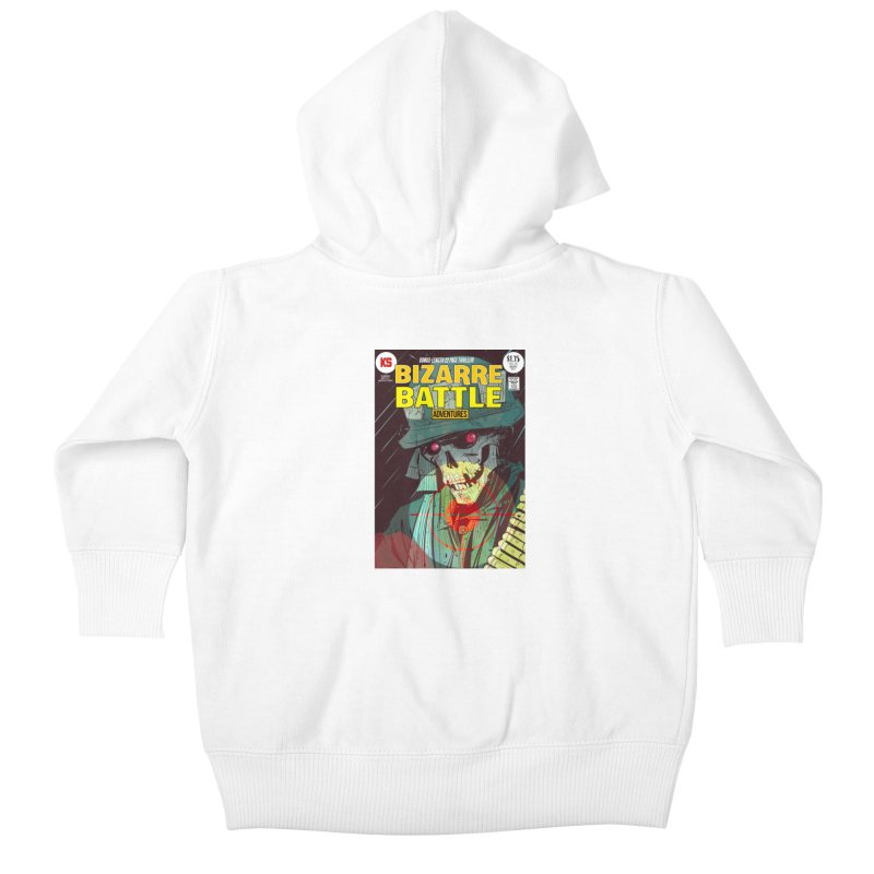 Bizarre Battle Adventures Cover art Kids Baby Zip-Up Hoody by Krishna Designs