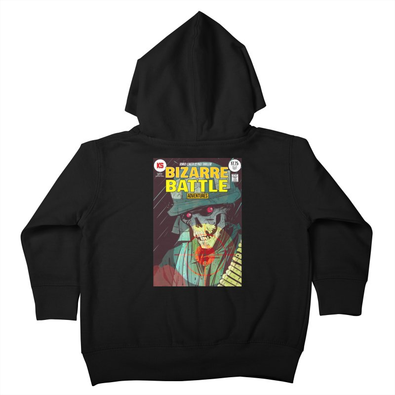 Bizarre Battle Adventures Cover art Kids Toddler Zip-Up Hoody by Krishna Designs