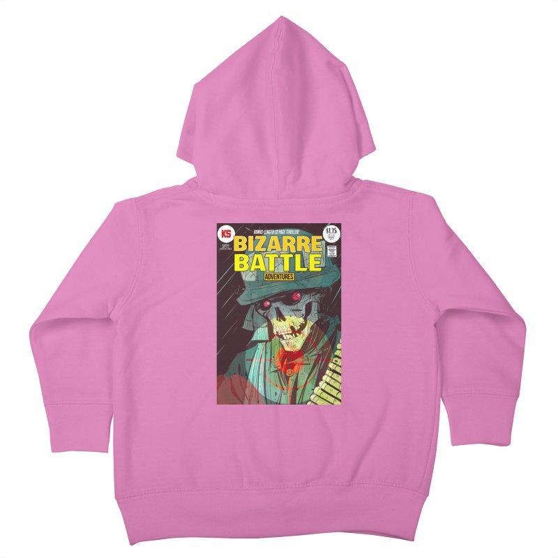 Bizarre Battle Adventures Cover art Kids Toddler Zip-Up Hoody by Krishna Designs