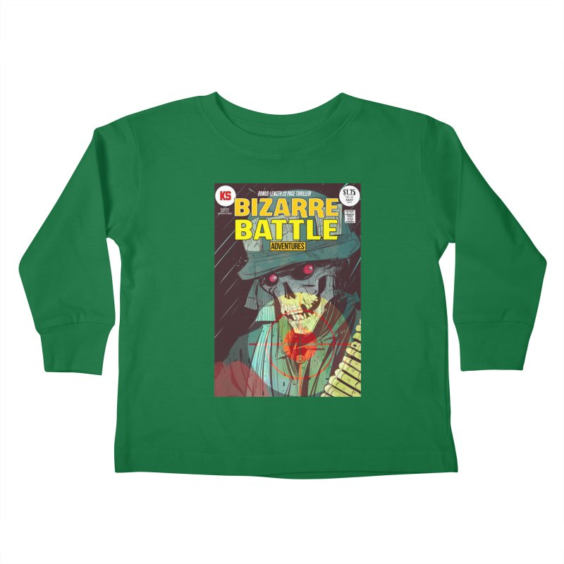 Bizarre Battle Adventures Cover art Kids Toddler Longsleeve T-Shirt by Krishna Designs