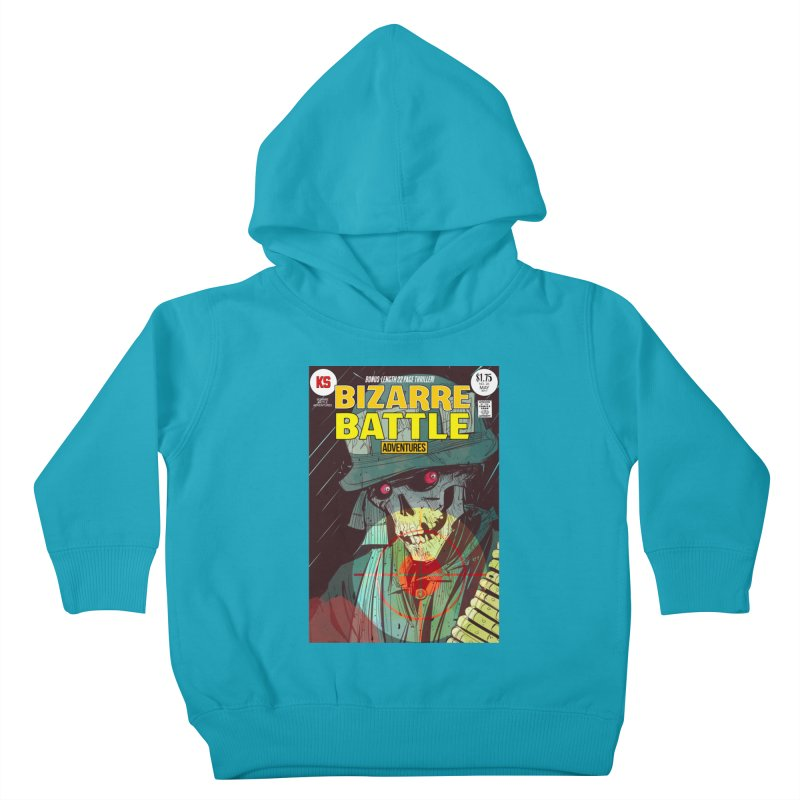 Bizarre Battle Adventures Cover art Kids Toddler Pullover Hoody by Krishna Designs