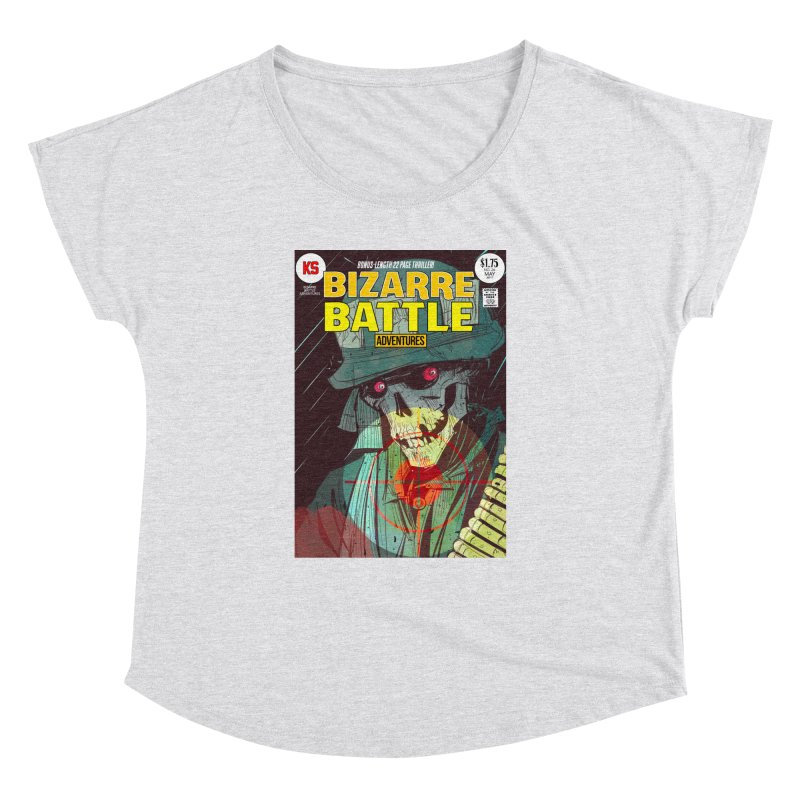 Bizarre Battle Adventures Cover art Women's Dolman Scoop Neck by Krishna Designs