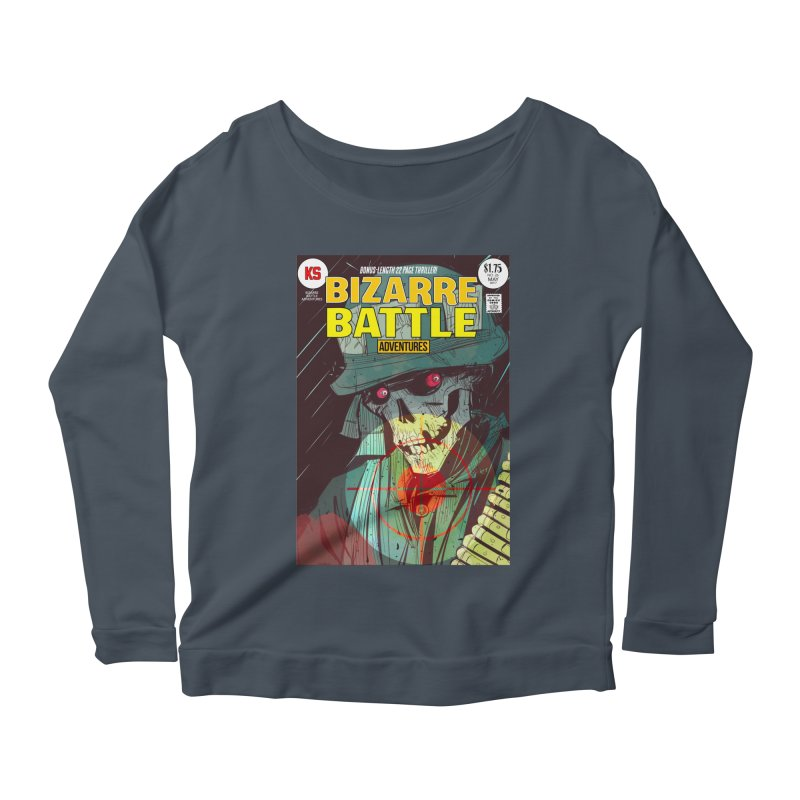 Bizarre Battle Adventures Cover art Women's Scoop Neck Longsleeve T-Shirt by Krishna Designs
