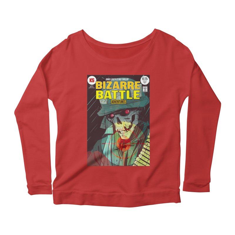 Bizarre Battle Adventures Cover art Women's Scoop Neck Longsleeve T-Shirt by Krishna Designs