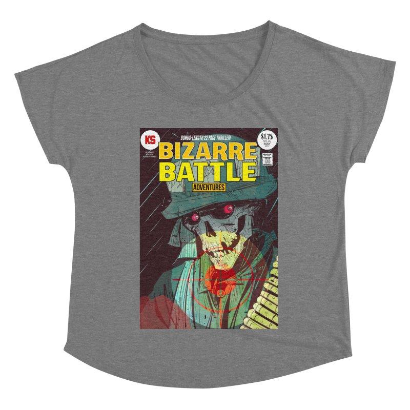 Bizarre Battle Adventures Cover art Women's Scoop Neck by Krishna Designs