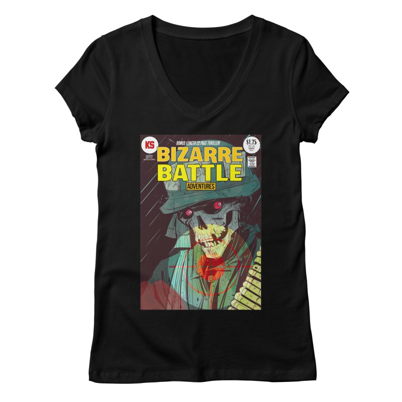 Bizarre Battle Adventures Cover art Women's V-Neck by Krishna Designs