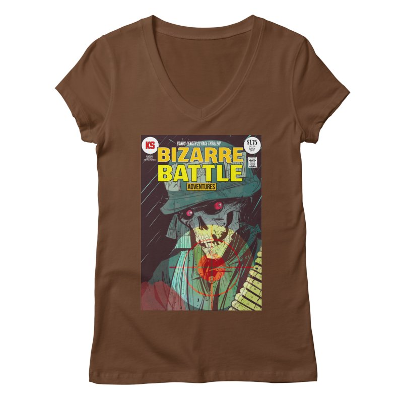 Bizarre Battle Adventures Cover art Women's V-Neck by Krishna Designs