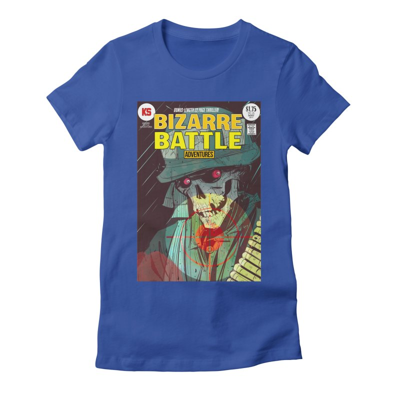 Bizarre Battle Adventures Cover art Women's Fitted T-Shirt by Krishna Designs