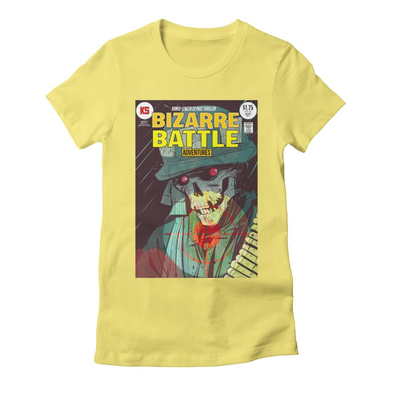 Bizarre Battle Adventures Cover art Women's Fitted T-Shirt by Krishna Designs