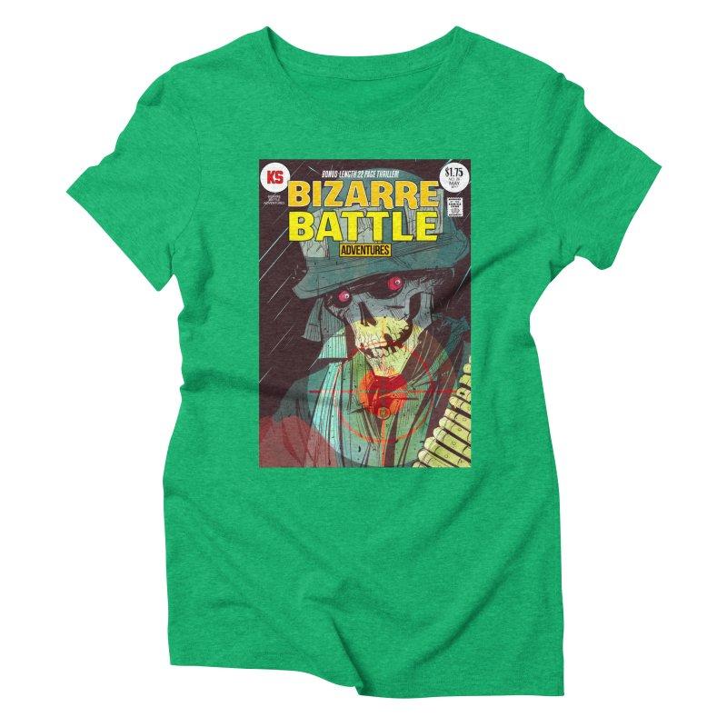 Bizarre Battle Adventures Cover art Women's Triblend T-Shirt by Krishna Designs