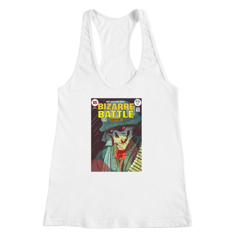 Bizarre Battle Adventures Cover art Women's Racerback Tank by Krishna Designs