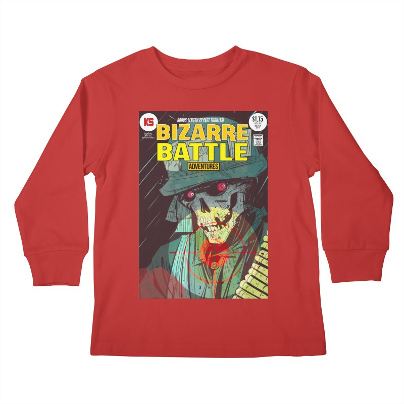 Bizarre Battle Adventures Cover art Kids Longsleeve T-Shirt by Krishna Designs