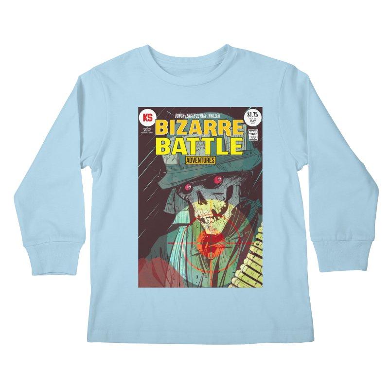 Bizarre Battle Adventures Cover art Kids Longsleeve T-Shirt by Krishna Designs