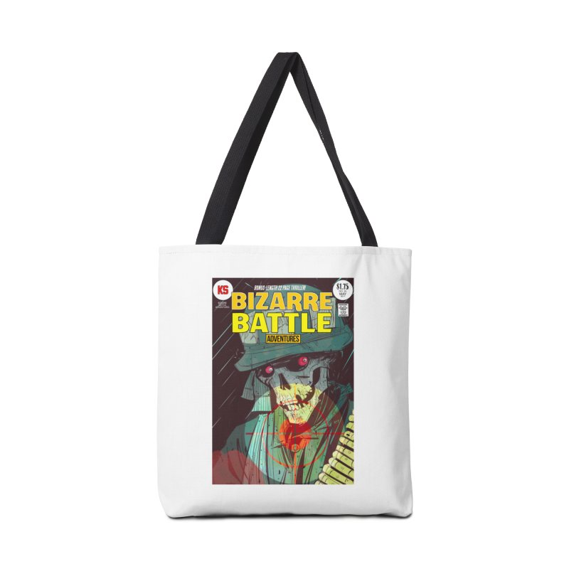 Bizarre Battle Adventures Cover art Accessories Tote Bag Bag by Krishna Designs
