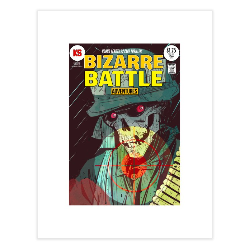 Bizarre Battle Adventures Cover art Home Fine Art Print by Krishna Designs