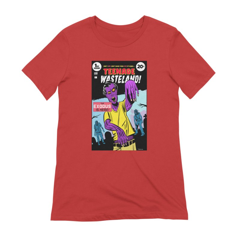 Teenage Wasteland Women's Extra Soft T-Shirt by Krishna Designs
