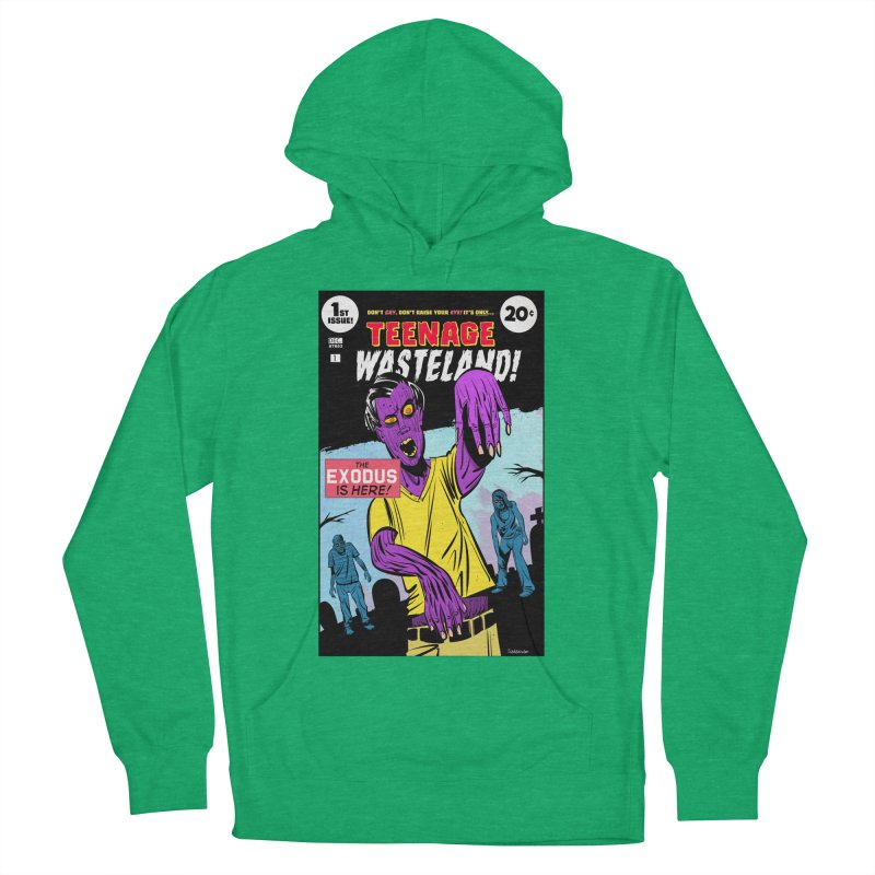 Teenage Wasteland Women's French Terry Pullover Hoody by Krishna Designs