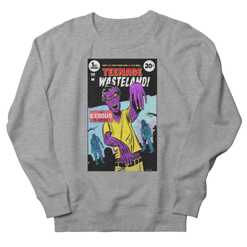 Teenage Wasteland Men's French Terry Sweatshirt by Krishna Designs