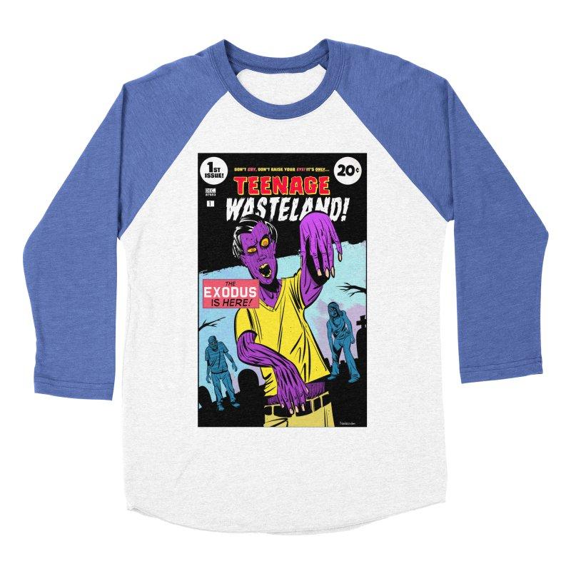 Teenage Wasteland Men's Baseball Triblend Longsleeve T-Shirt by Krishna Designs