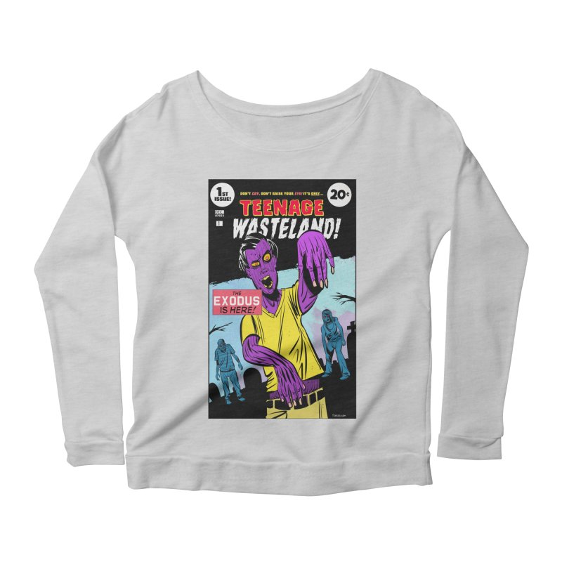 Teenage Wasteland Women's Scoop Neck Longsleeve T-Shirt by Krishna Designs