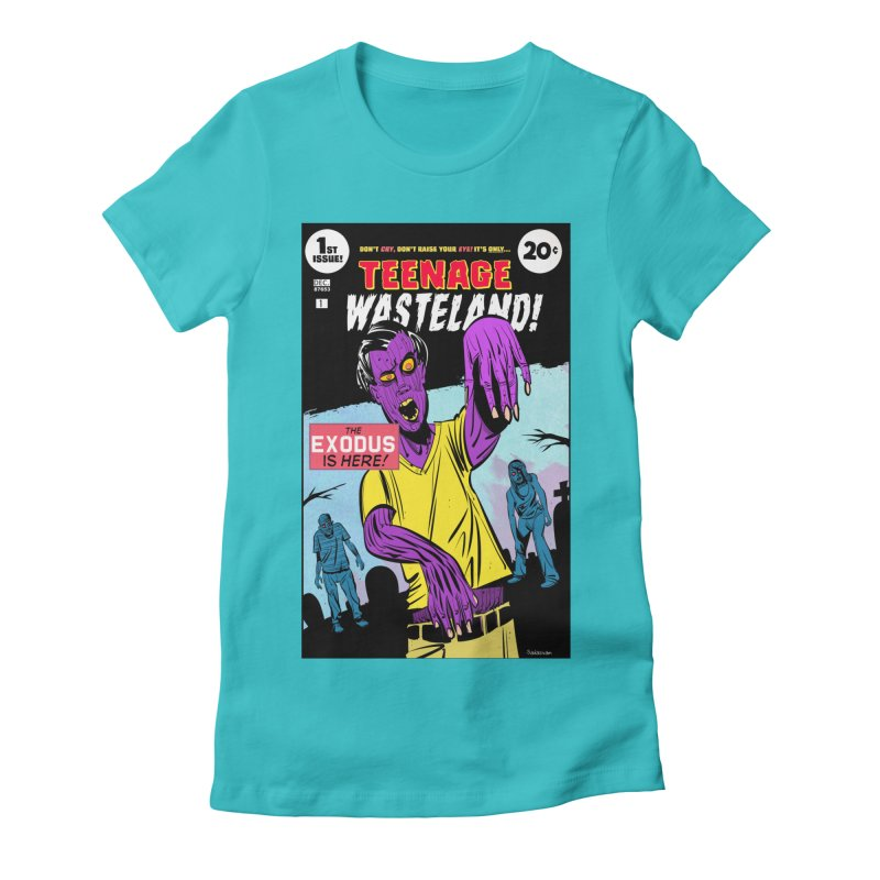Teenage Wasteland Women's Fitted T-Shirt by Krishna Designs