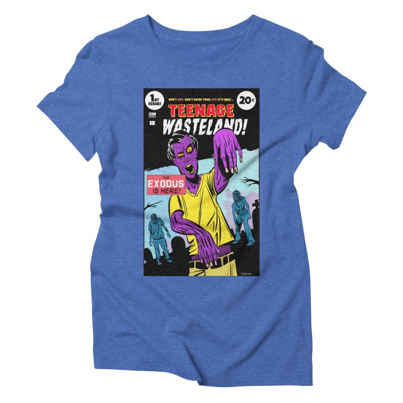 Teenage Wasteland Women's Triblend T-Shirt by Krishna Designs
