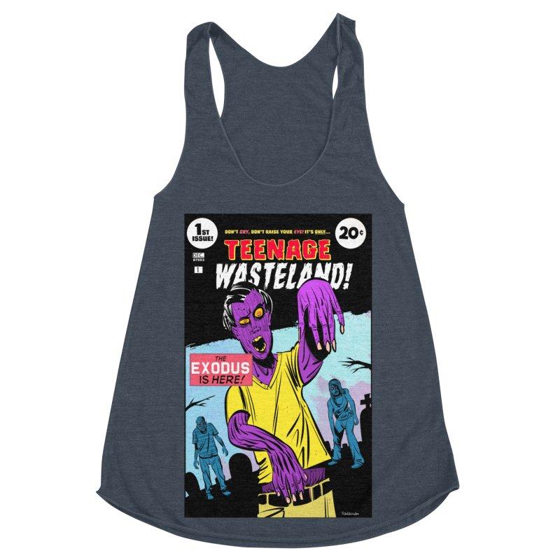 Teenage Wasteland Women's Racerback Triblend Tank by Krishna Designs
