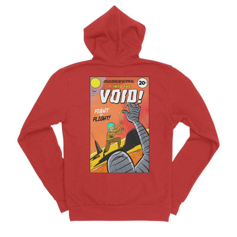 Into the Void Women's Sponge Fleece Zip-Up Hoody by Krishna Designs