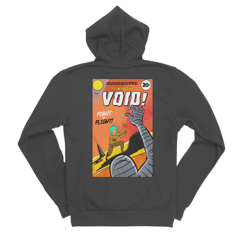Into the Void Men's Sponge Fleece Zip-Up Hoody by Krishna Designs
