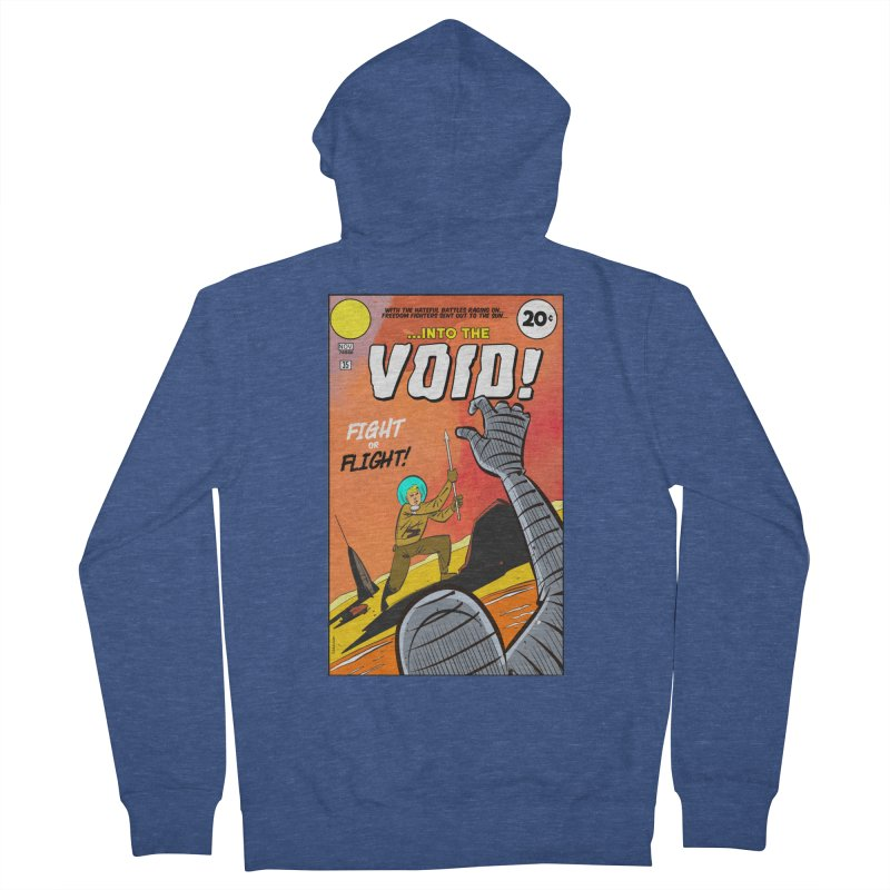 Into the Void Men's French Terry Zip-Up Hoody by Krishna Designs